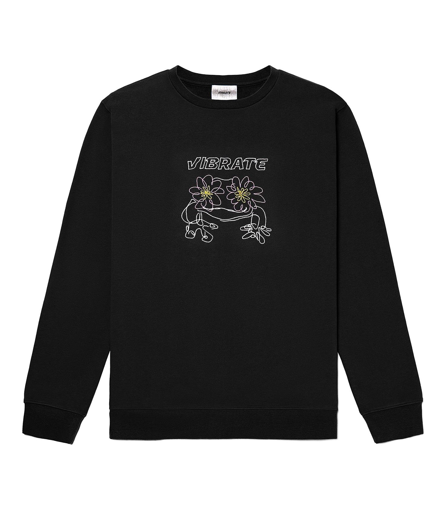 POP-EYES FROG LOGO SWEATSHIRTS (BLACK)