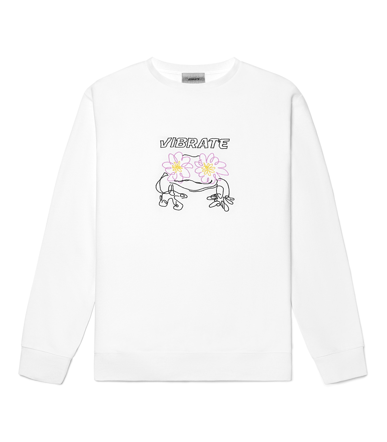 POP-EYES FROG LOGO SWEATSHIRTS (WHITE)