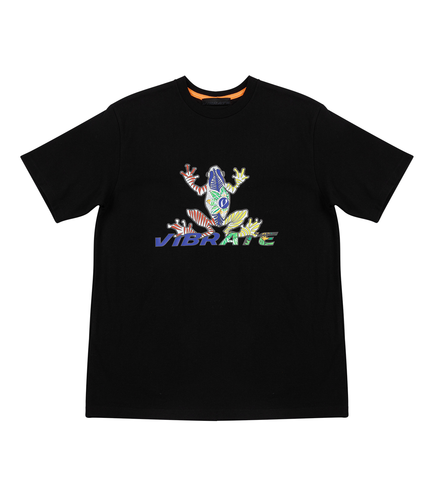 RAINBOW V-ROGGY LOGO T-SHIRT (BLACK)