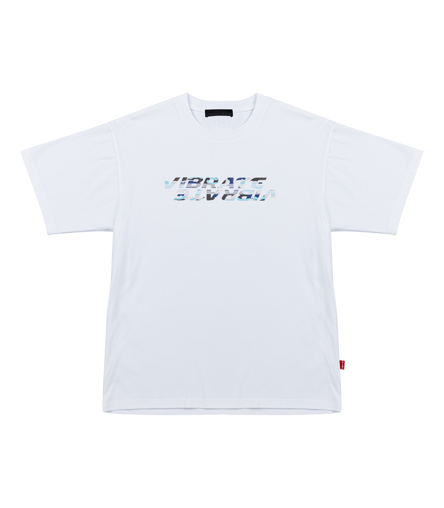 BLUE MILITARY LOGO T-SHIRT (WHITE)