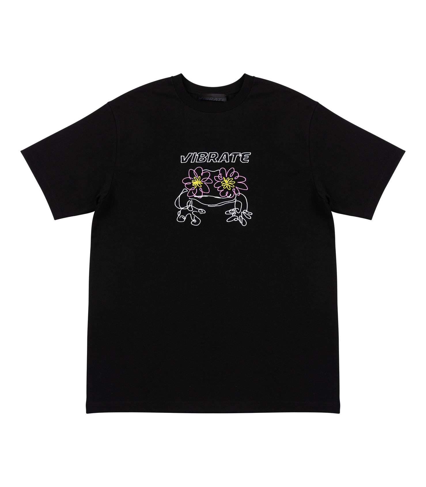 POP-EYES FROG LOGO T-SHIRT (BLACK)