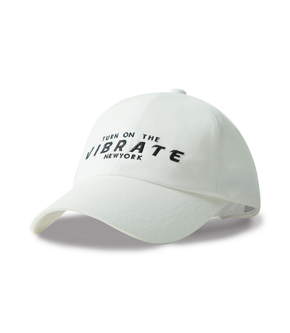 VIBRATE - SPACE BALL CAP (white)