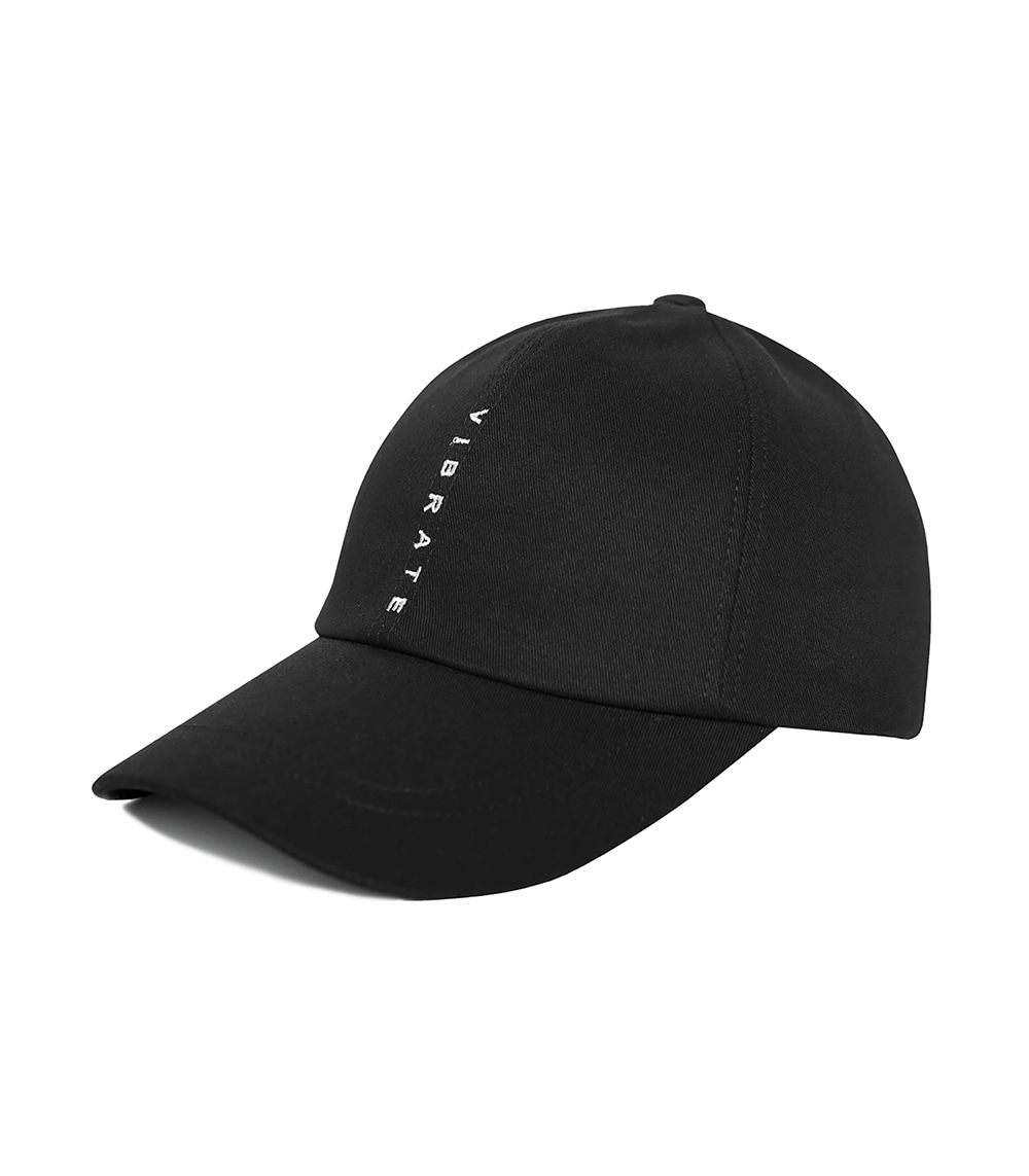 VERTICAL LOGO BALL CAP (BLACK)