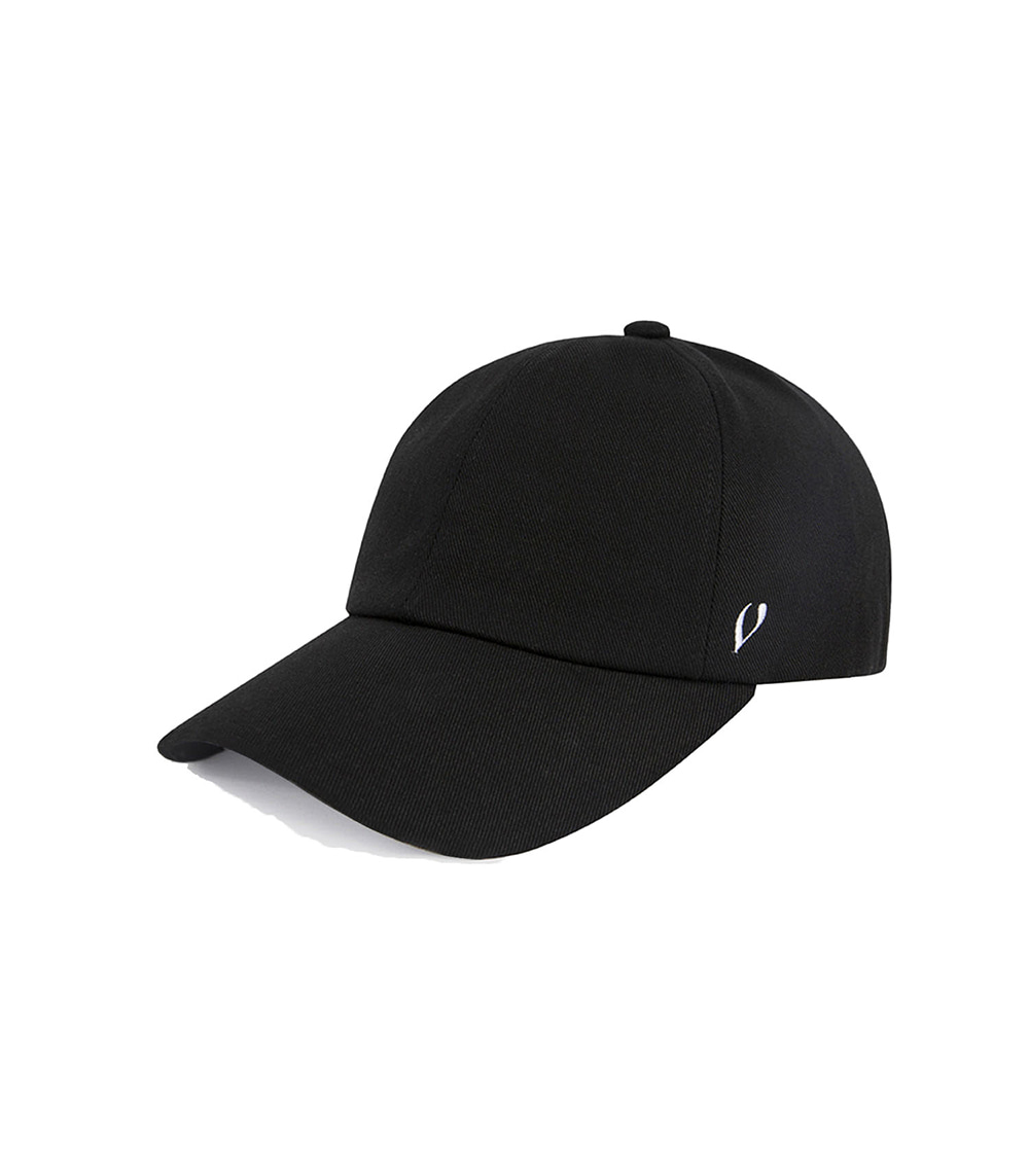BLACK LINE - REAL COTTON BALL CAP (BLACK)