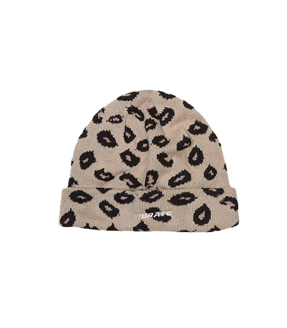 RING POINT LEOPARD BEANIE