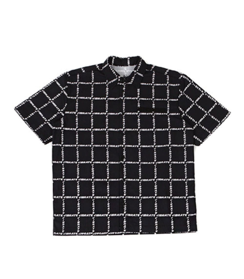 GOLDLINE WINDOW CHECK SHIRT (BLACK)