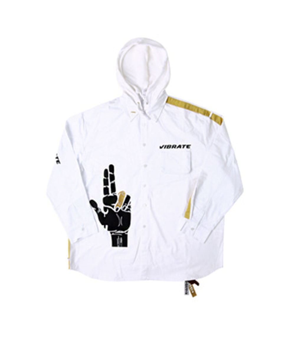 GOLDLINE SHIRTS HOODIE JACKET NO.2 (WHITE)