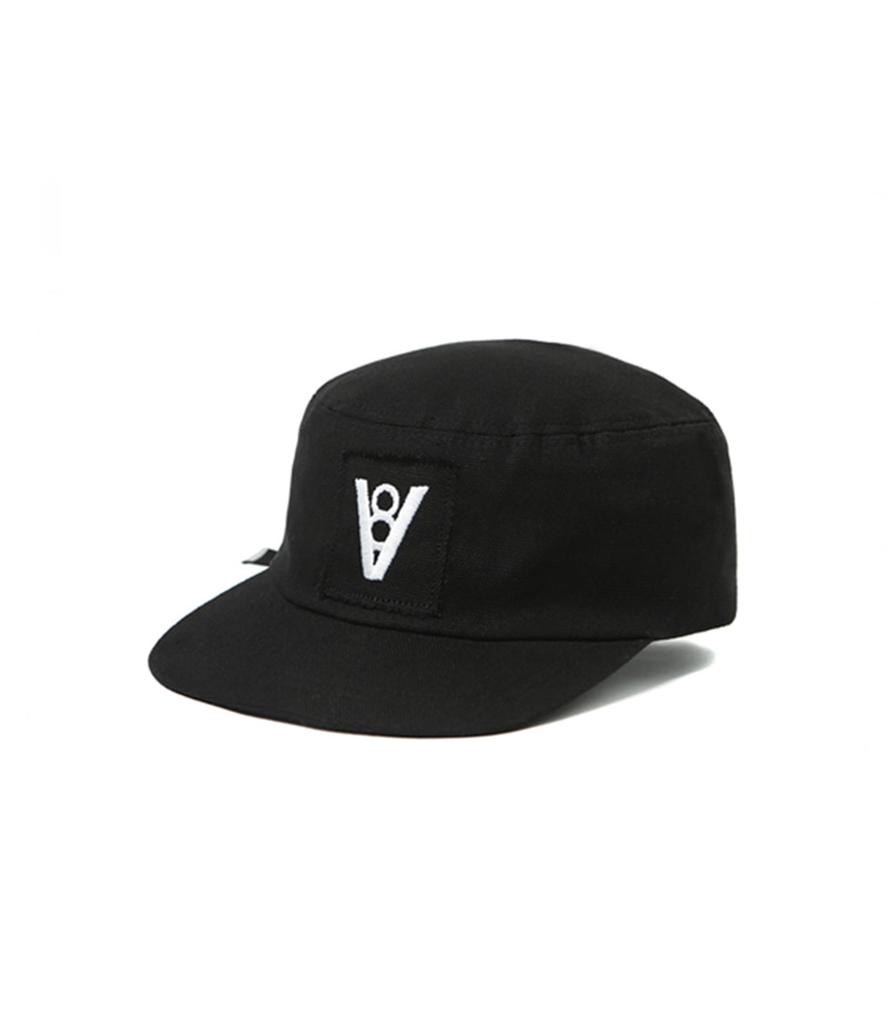 ATTACHED LOGO MILITARY CAP (BLACK)