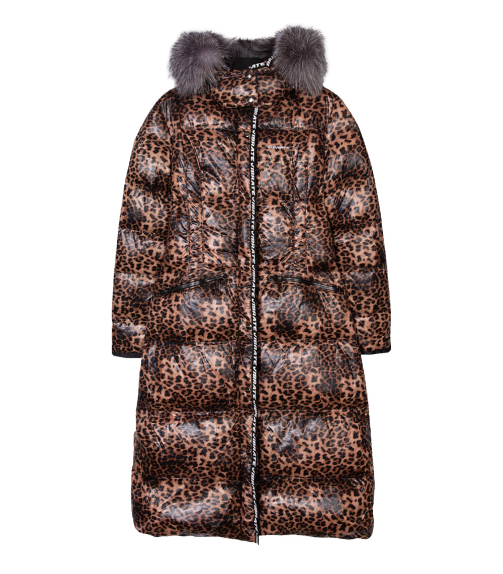 [한예슬패딩][WOMAN]EXPEDITION LEOPARD LONG DUCKDOWN JACKET